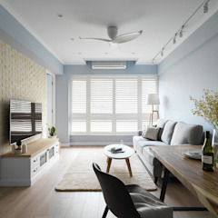 Country style living room by 木皆空間設計 Country