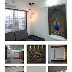 3BHK flat: modern  by Falsa lifestyle,Modern Wood Wood effect