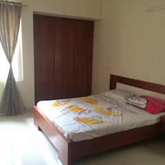 Bed and Wardrobe Design Modern style bedroom by Vedasri Siddamsetty Modern