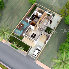 Architectural 3D Floor Plan Asian style clinics by The Cheesy Animation Asian