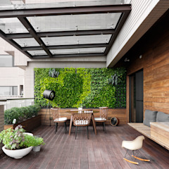 Hiên, sân thượng phong cách hiện đại bởi 禾築國際設計Herzu Interior Design Hiện đại