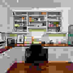 Luxury Kalorama Condo Renovation in Washington DC BOWA - Design Build Experts Minimalist study/office