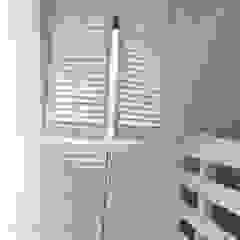 Shutters, drewniane okiennice wewnętrzne od Gama Styl Skandynawski Drewno O efekcie drewna