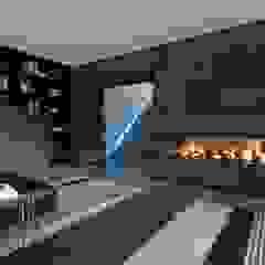 Mutsaers Leather flooring Paredes y pisos modernos Azulejos Gris