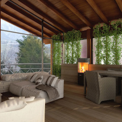 Modern style conservatory by Architetto Luigia Pace Modern Wood Wood effect