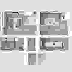 WNĘTRZA - wizualizacje Skandynawskie ściany i podłogi od ILLUMISTUDIO Skandynawski