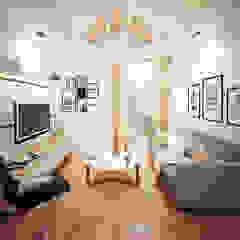 The mansion Ruang Keluarga Gaya Asia Oleh aidecore Asia Kayu Lapis