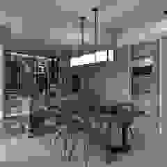 [HOME] Ciid Design - Haihua Model House 러스틱스타일 다이닝 룸 by KD Panels 러스틱 (Rustic) 우드 우드 그레인