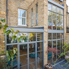 Double height crittall style extension HollandGreen Eclectic style houses