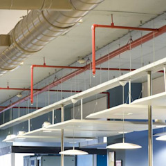 Exposed Ceiling Studio - Architect Rajesh Patel Consultants P. Ltd Commercial Spaces