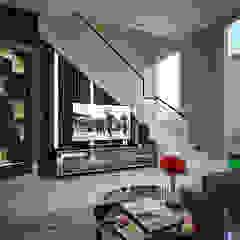 Mrs. Lenny Private Residential Ruang Keluarga Modern Oleh PT Kreasi Cemerlang Abadi Modern Kayu Wood effect