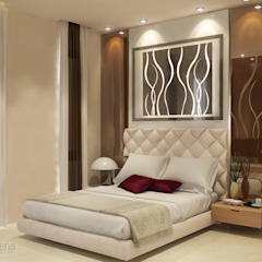 Wisata Bukit Mas, Surabaya Kamar Tidur Modern Oleh AIRE INTERIOR Modern Kaca