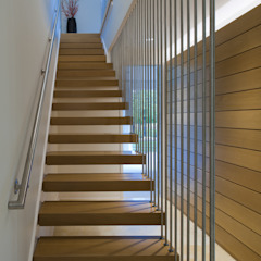 Green Building Features Abound in Bluemont, Virginia Custom Home BOWA - Design Build Experts Modern Corridor, Hallway and Staircase