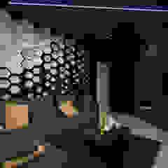 Double Storey House Corner Lot In Pelangi Indah Modern style media rooms by Enrich Artlife & Interior Design Sdn Bhd Modern