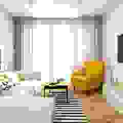 Mieszkanie w klimacie skandynawskim Skandynawski salon od MONOstudio Skandynawski