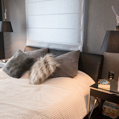 Apartament Bursztynowy Egzotyczna sypialnia od Viva Design - projektowanie wnętrz Egzotyczny Drewno O efekcie drewna