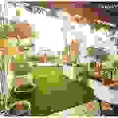 Vườn phong cách chiết trung bởi Sandarbh Design Studio Chiết trung