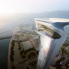 Aedas designs a dragon-inspired cultural-tourism complex in Zhuhai, China by Architecture by Aedas Modern