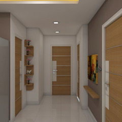 Asian style corridor, hallway & stairs by shree lalitha consultants Asian Plywood