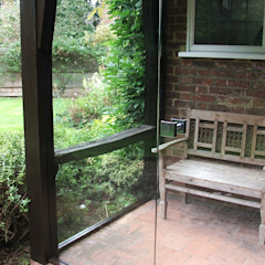 Glass screens for porches & entrances by Ion Glass Classic