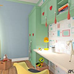 дизайнер Алина Куракова Girls Bedroom Multicolored