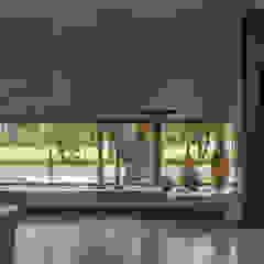 Casa HK Paredes y pisos minimalistas de Ciudad y Arquitectura Minimalista