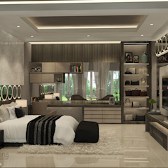 Master Bedroom Kamar Tidur Modern Oleh AIRE INTERIOR Modern Kaca