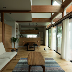Konan House ラスティックデザインの リビング の ALTS DESIGN OFFICE ラスティック