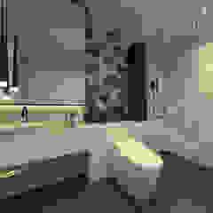 Studio Apartment, Sandalwood Springhill Kamar Mandi Gaya Rustic Oleh Lines & Lumber Rustic