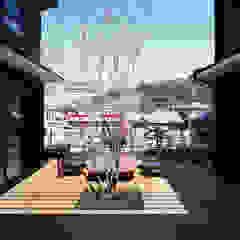 Vườn phong cách chiết trung bởi 有島忠男設計工房 Chiết trung Gỗ Wood effect