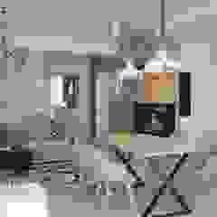OES architekci Salon moderne Béton Gris