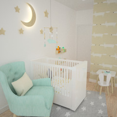 OES architekci Modern nursery/kids room Wood Green
