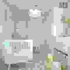 OES architekci Modern nursery/kids room Sandstone Beige