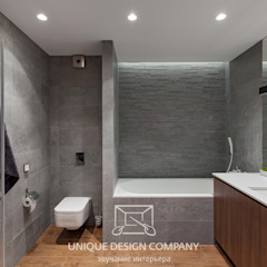 Apartment on Filimonova street Minsk Modern Bathroom by Unique Design Company Modern