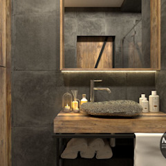 Industrial style bathroom by MONOstudio Industrial