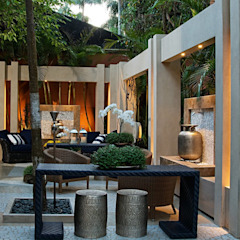 Interart Design de Interiores Modern style conservatory Iron/Steel Beige