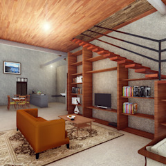 RH House Ruang Keluarga Tropis Oleh Pr+ Architect Tropis