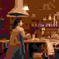 琵琶湖の家 カントリーデザインの キッチン の URBAN GEAR カントリー タイル