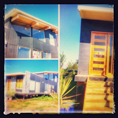 by Arquitectura Amanda Perez Feliú Mediterranean Engineered Wood Transparent