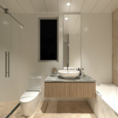 Sorrento Tower Modern bathroom by Artta Concept Studio Modern