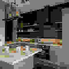 Cocinas de estilo industrial de KODO projekty i realizacje wnętrz Industrial