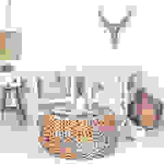 Malawi Chairs : scandinavian  by Atelier Lane   Interior Design, Scandinavian Rattan/Wicker Turquoise