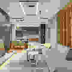 Оригинальный дизайн гостиной в стиле лофт и контемпорари Гостиная в стиле лофт от Artichok Design Лофт
