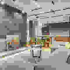 Гостиная в стиле loft и contemporary Гостиная в стиле лофт от Artichok Design Лофт