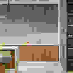 Кухня и гостиная в стиле лофт Кухня в стиле лофт от Artichok Design Лофт