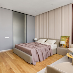 Функциональный современный дизайн спальни Спальня в стиле лофт от Artichok Design Лофт