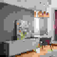 Авторские картины в современном дизайне спальни Спальня в стиле лофт от Artichok Design Лофт