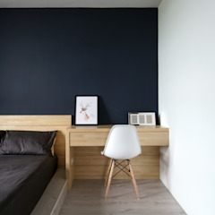 Industrial style bedroom by E&K宜客設計 Industrial