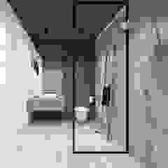 PROJEKT ŁAZIENKI I KUCHNI / GARLICA MUROWANA. Industrialna łazienka od MADO DESIGN Industrialny