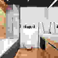 PROJEKT MIESZKANIA 50 m2 / KRAKÓW / GRZEGÓRZECKA Industrialna łazienka od MADO DESIGN Industrialny